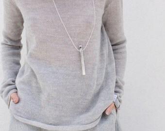 Sweaters | women's sweaters | minimalist sweater | cowl neck sweater | gray sweater | wool sweater