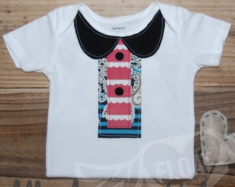 "FLOAT's Shabby Chic Collection..""All American Girl"" T-Shirt (or Bodysuit)"