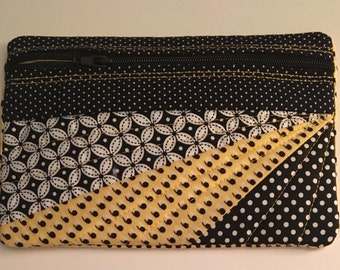 Cute Cotton Small Quilted Zipper Pouch-Lined-Cosmetics-Change