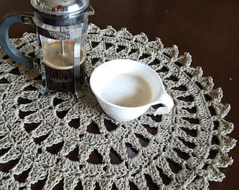 Crochet Centerpiece Crochet Mandala Large Doilies 100% Cotton Housewarming Gift Mother'sDay Wedding Gift/Modern Crochet