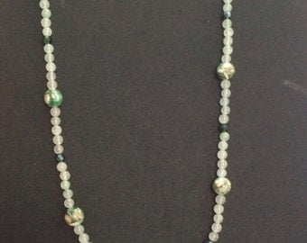 Shell and Jade Bead Necklace