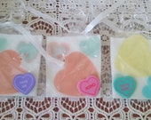 Valentines Party Favors - Party Favors - Party Favor Soaps - Valentine - Party Favor - Heart Soaps - Valentines - Valentines For Kids - Soap