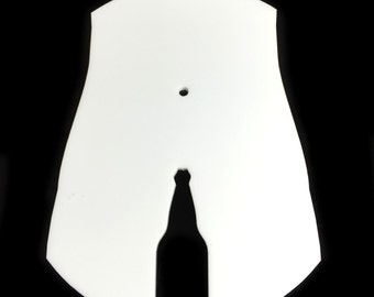 Male Beer Bottle White Acrylic Toilet Door Sign - 5 Sizes Available