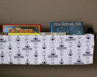 Bookshelf Sling - Wall Bookshelf - Reading Nook - Nursery Bookshelf - Children's Room Book Accessories - Nursery Storage - Diaper Caddy