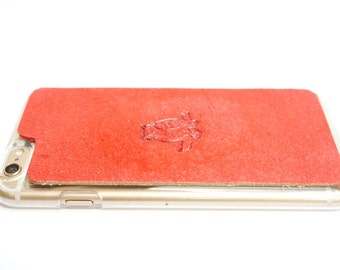 Leather iPhone 6s Plus Case / iPhone 6 Plus Case - Majestic Owl