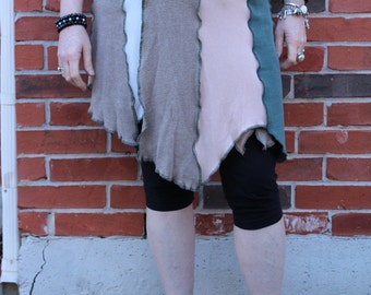 Wrap Patchwork Skirt Greens and Browns