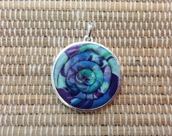 Fabric and Rope wrapped Necklace