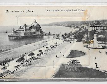 Mini Foldout, Nice, France Photo Postcard, 1919