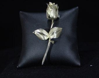 Giovanni Gold Tone Rose Pin