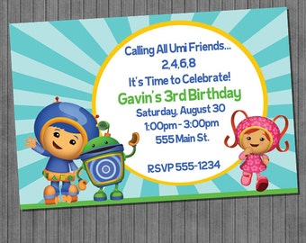Team Umizoomi  Invitations