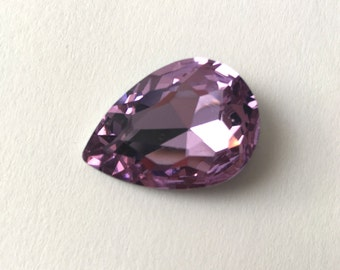 Sparkly stone-rhinestone drop Pearl point back