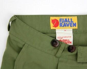 Men's Vintage FJALLRAVEN Capris Pants // Fjall Raven Green Hiking Capris