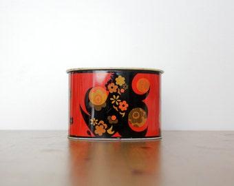 Vintage tin // colorful floral retro tin