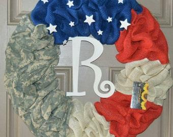 ACU American Flag Wreath