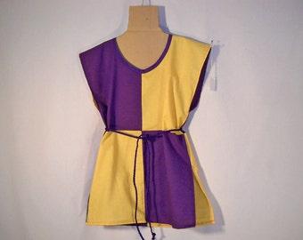Sz 8 Boy's Medieval Knight Parti-color Cotton Tunic Shirt SCA LARP