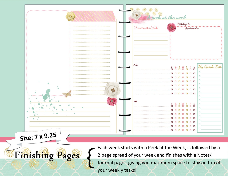 Happy Planner Calendar Refills : Happy planner printable weekly inserts refills pdf