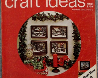 Decorating Craft Ideas Magazine December-January 1972-73