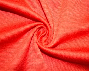 """Grapefruit Ponte Di Roma Double Knit Polyester Spandex Lycra Stretch Medium Weight Apparel Craft Fabric 58""""-60"""" Wide By The Yard"""