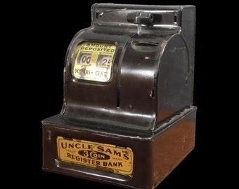 Metal Piggy Bank, Money Bank, Bank, Coin Bank, Uncle Same Bank, Vintage Office, Piggy Bank,Vintage Piggy Bank,Uncle Same Decor,Cash Register