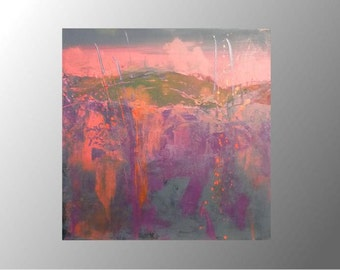 modern abstract acrylic painting canvas on strecher ready to hang