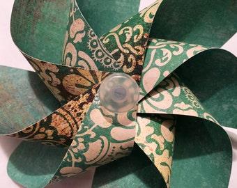 Mini Floral Print Pinwheels