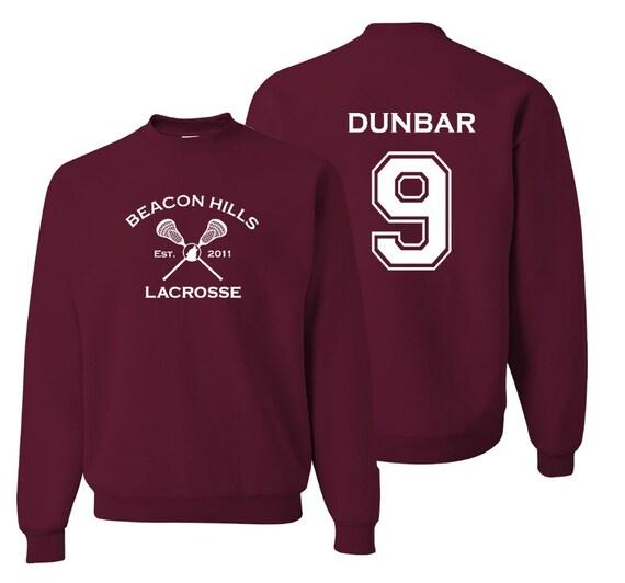teen wolf sweatshirt dunbar 9 beacon hills lacrosse pullover. Black Bedroom Furniture Sets. Home Design Ideas