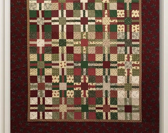 Nancy Rink Designs Kris Cross Civil War Reproduction 61 x 70 Quilt Pattern Free Ship