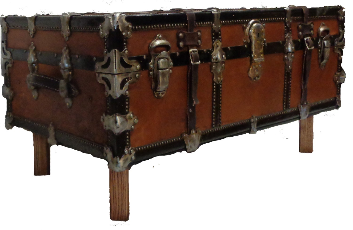 Steamer Trunk Coffee Table C 1920