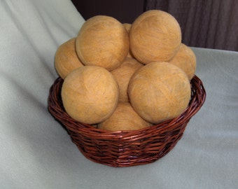 Felted Wool Dryer Balls - Set of 4 - Recycled, Upcycled