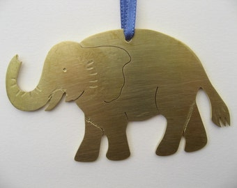 elephant hanging decoration in brass