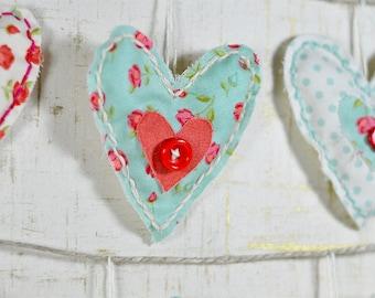 Plush Heart Garland