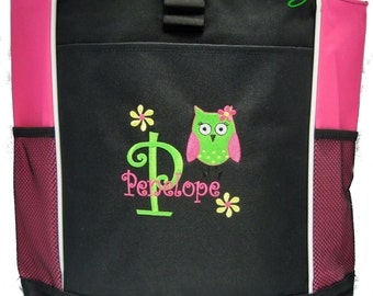 PERSONALIZED Owl  Tote Bag diaper baby beach   New FREE SHIPPING