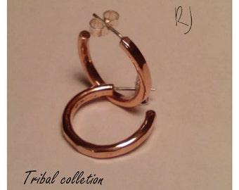 Copper hoop earrings (medium)