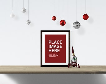 CHRISTMAS Styled Stock Photography, Minimalist Desk Mock Up - Instant Download Commercial Use Allowed
