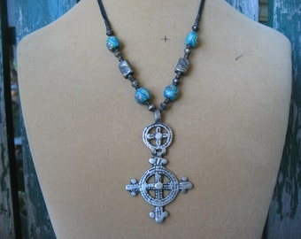 Vintage African Cross Necklace