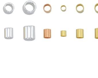 Crimp Tubes Beadalon #1 #2 #3 Approx.100 PCS #4 Approx.50 PCS Colors Silver - Copper - Gold