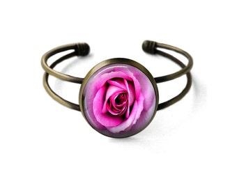 Pink Rose Cuff Bracelet