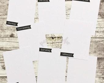 008 - weekdays - card set