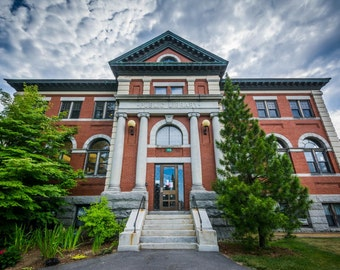 The Public Library, in Dover, New Hampshire.   Photo Print, Stretched Canvas, or Metal Print.