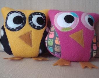 Whimsical Stuffed Owl