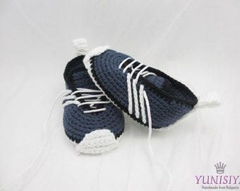 Crochet Baby Boy Booties. Soft sole baby boy shoes, Newborn Crochet Shoes,  Crochet Booties, Crochet Boy Shoes, Boy Shoes