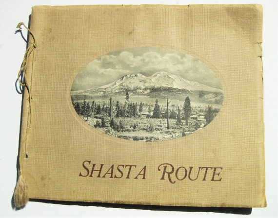 "Large ""Shasta Route"" album by Brown News Co. Circa 1912. California and Oregon scenes"