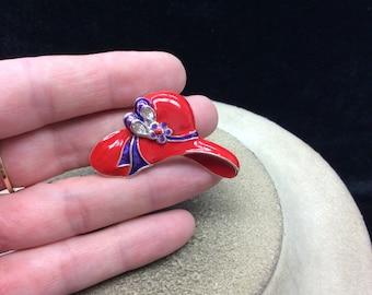 Vintage Purple & Red Enameled Hat Pin
