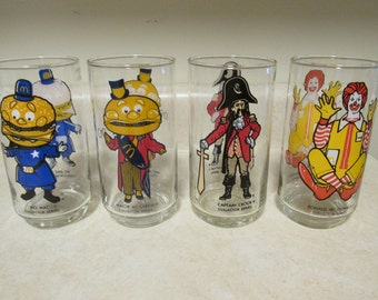 McDonalds Collector Series Drinking Glasses