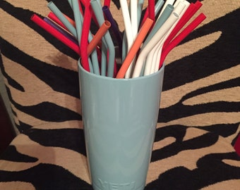 Stainless steel powder coated colored straw! Fits Yeti-RTIC-Ozark rambler-custom-summer-gift-Mother's Day
