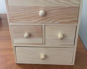 Mini wooden chest