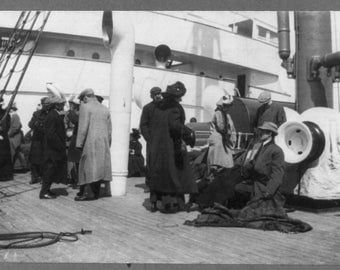 Survivors from the Titanic, Carpathia: Photo Print