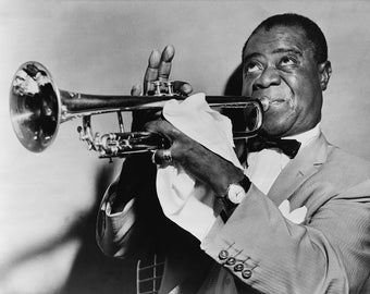Musician Louis Armstrong, 1950's