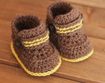 """Crochet Pattern for Boys Boots """"Greko Boot"""" Booties Pattern, Boys, Crochet Booties, PATTERN ONLY"""
