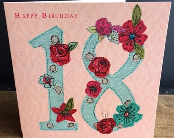 Age 18-Greeting Card- handfinished